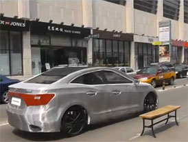 Hyundai Azera a Porsche 911 jako šlapací auta (video)