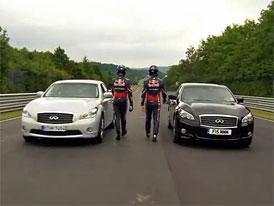 Infiniti M35h vs M37: Vettel vs Webber na Ringu (video)