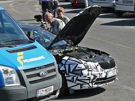 Spy Photos: Modernizovaná Škoda Superb na Grossglockneru