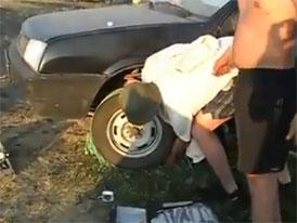Lada Samara: Startování provazem (video)