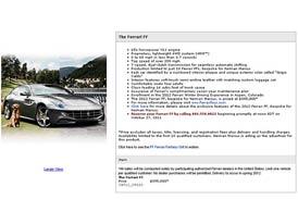 Ferrari FF v katalogu Naiman Marcus: Čtyřkolka jako dárek k Vánocům