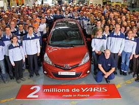 Toyota: 2 miliony Yarisů z Francie