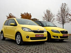 Škoda Citigo vs. Škoda Fabia: Žlutý duel