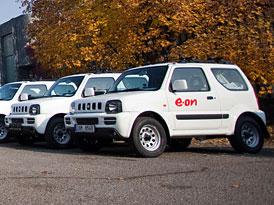 90 voz� Suzuki pro E.ON: Pro energetiky jezd� Jimny a Grand Vitary