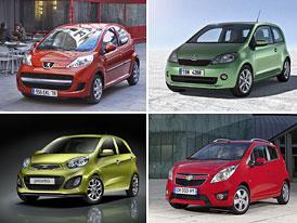 Škoda Citigo vs. Kia Picanto vs. Peugeot 107 vs. Chevrolet Spark: Co koupit?