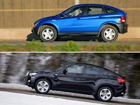 Ssangyong Actyon vs. BMW X6: Designový duel