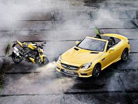 Mercedes-Benz SLK 55 AMG: Sytě žlutý pouliční bojovník v Boloni