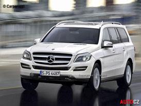 Mercedes-Benz GL (X166) jako v�t�� bratr t��dy ML - Prvn� skica