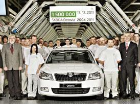 Škoda Auto vyrobila 1,5miliontou Octavii II (A5)