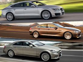 Audi A7 vs. BMW 6 Gran Coupe vs. Mercedes-Benz CLS: Designový trojboj