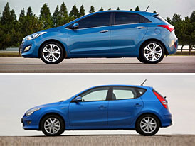 Designový duel: Hyundai i30 (minulá vs. nová generace)