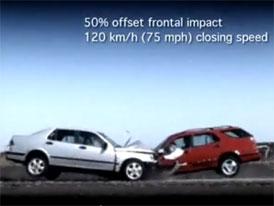 Historie crash-testů: Saab 9-5