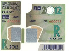 Dálniční známky 2012: Cena platnost, výměna