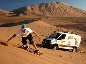 Volkswagen Crafter 4Motion v dunách