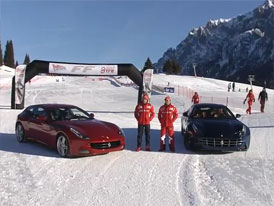 Video: Ferrari FF – Slalom na sněhu s Alonsem a Massou