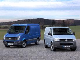 Volkswagen Transporter a Crafter BlueMotion s nižší spotřebou