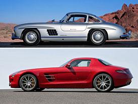 Design po generacích: Mercedes-Benz 300 SL a SLS AMG – Gullwing včera a dnes