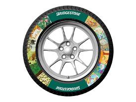 Pneu Bridgestone s potiskem: Barvy se smějí