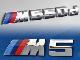 BMW M5 vs 550d: Kdo s koho aneb detailní srovnání parametrů