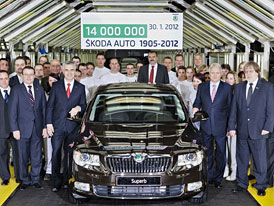 Škoda Auto slaví: 14 milionů vyrobených vozů
