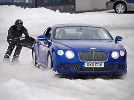 Video: Na lyžích za Bentley Continental GT