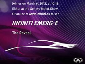 Infiniti EMERG-E: Sportovní elektromobil pro Ženevu