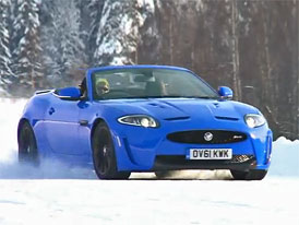 Video: Jaguar XKR-S Convertible se ženou za volantem na ledu