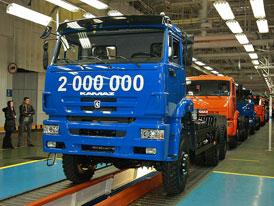Kamaz oslavil 2.000.000 vyrobených vozidel
