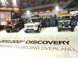 Land Rover slaví milion vyrobených Discovery