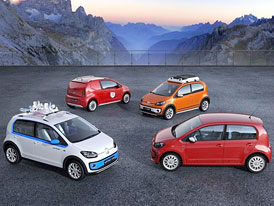 Volkswagen up!: Čtyři koncepční variace v Ženevě