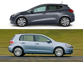 Designový duel: Kia Ceed vs. VW Golf – Souboj idejí