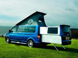 VW Multivan s výsuvnou ložnicí se jmenuje Doubleback