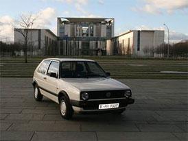 VW Golf kancléřky Merkelové se prodává na eBay