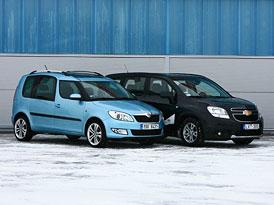 Srovn�vac� test Sv�ta motor�: Chevrolet Orlando vs. �koda Roomster