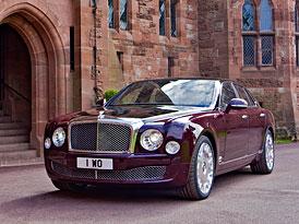 Bentley Mulsanne Diamond Jubilee uctí 60 let vlády britské královny