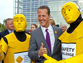 Michael Schumacher p�ijede do Prahy na Road Safety Day