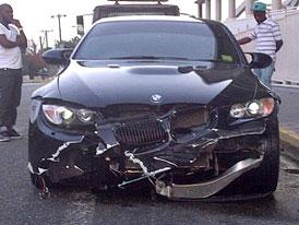 Sprinter Usain Bolt havaroval ve svém BMW M3