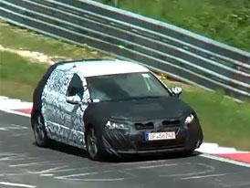 VW Golf GTI VII nafilmován při testování