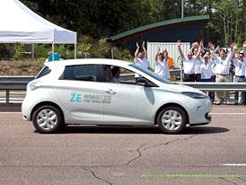 Renault Zoe rekordmanem: Elektromobil ujel za 24 hodin 1.618 kilometrů