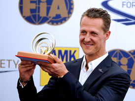 2x video: Michael Schumacher v Praze