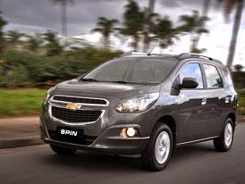 Chevrolet Spin: Lodgy na brazilský způsob
