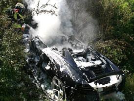McLaren MP4-12C shořel při předváděcí jízdě