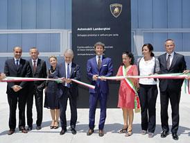 Lamborghini otevřelo budovu pro vývoj aut s malou montážní linkou