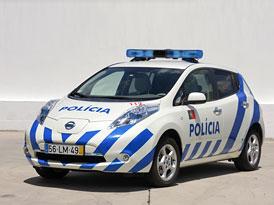 Elektromobil Nissan Leaf míří do policejních služeb