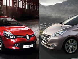 Designový duel: Peugeot 208 vs. Renault Clio