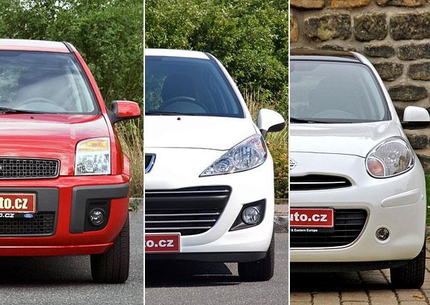 Videorecenze ojetiny: Ford Fusion, Peugeot 207, nebo Nissan Micra?