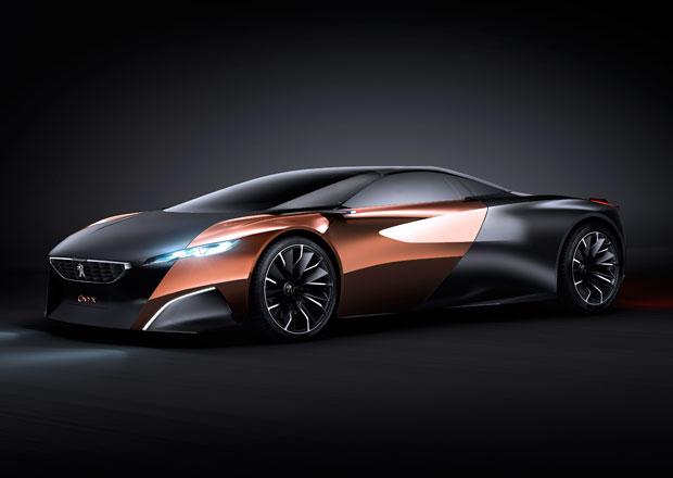 Peugeot Onyx je jméno pro hybridní supersport, tříkolový skútr i jízdní kolo