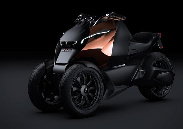 Peugeot Onyx Scooter: Hybridní tříkolka pro dva