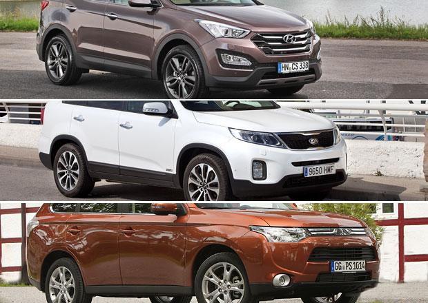 Hyundai Santa Fe, Kia Sorento, Mitsubishi Outlander: Co koupit?