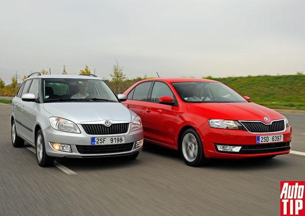 Škoda Rapid vs. Fabia Combi 1,2 TSI: Test spotřeby